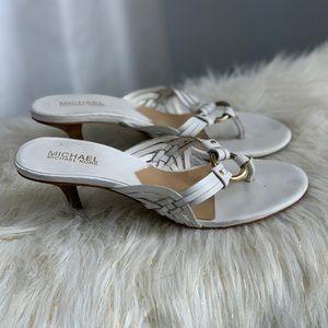 Michael Kors white sandals heels size 8M